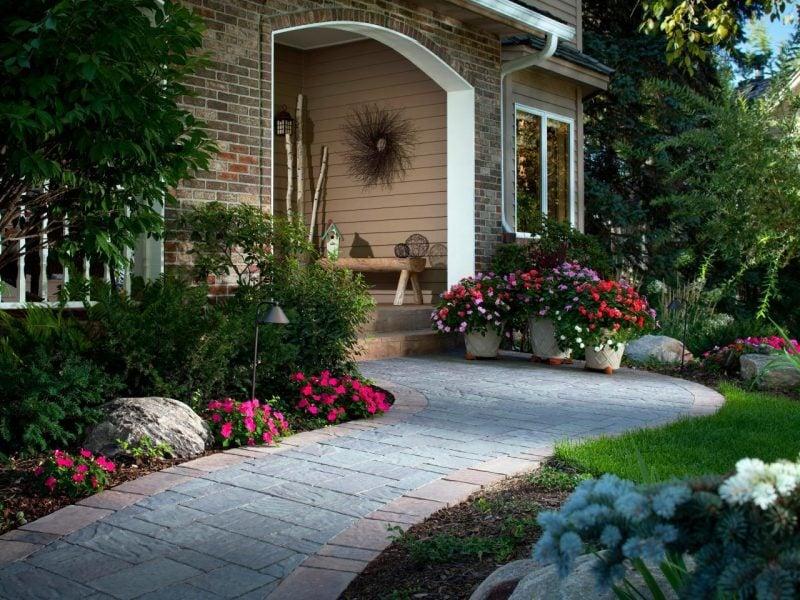 Vorgärten Gartenweg anlegen