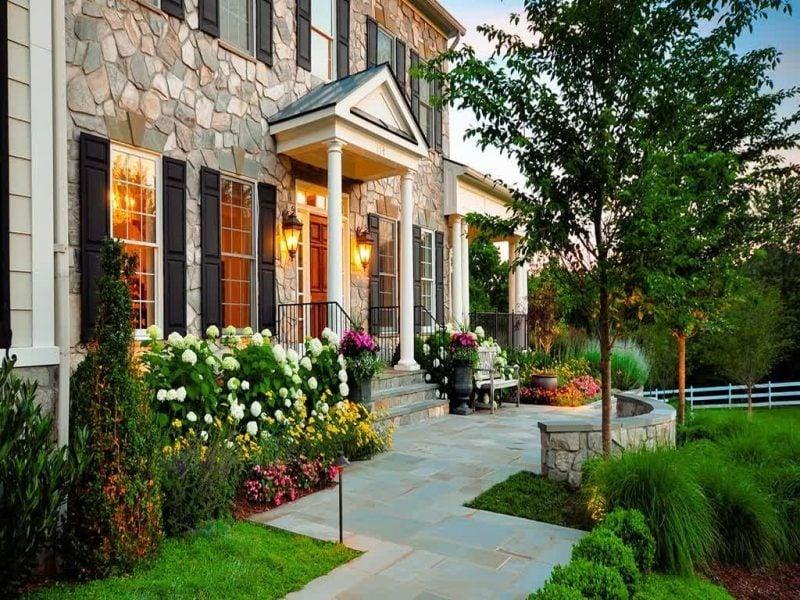 Vorgärten Rosen für einen rustikalen Look