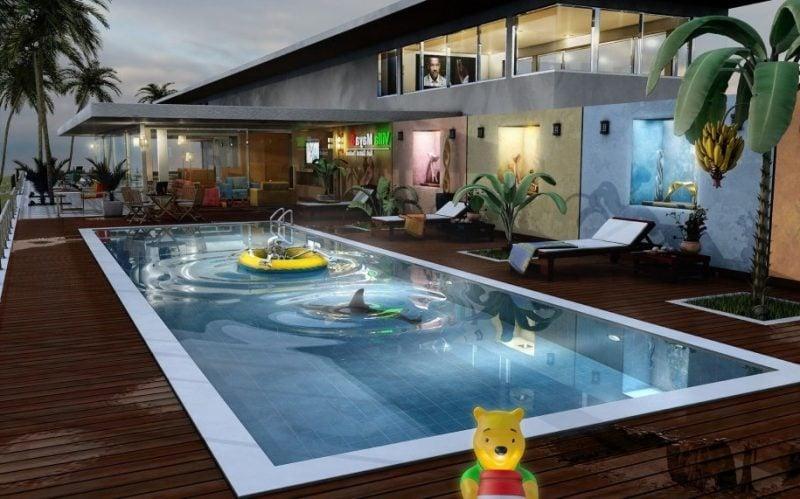 Vorgärten Schwimmbad