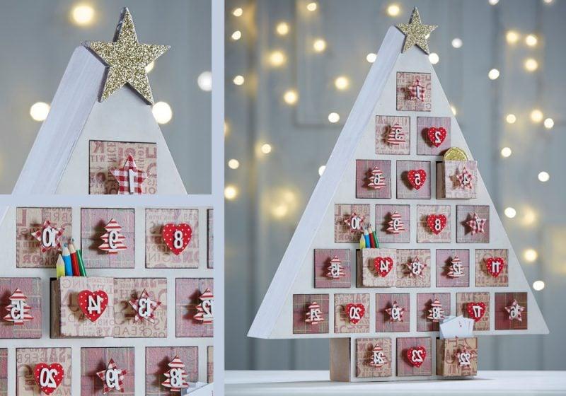 Weihnachtsmotive zum Ausdrucken DIY Adventskalender