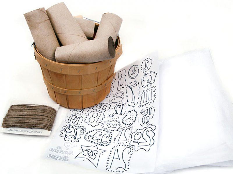 Weihnachtsmotive zum Ausdrucken DIY Adventskalender mit Toilettenpapierrollen