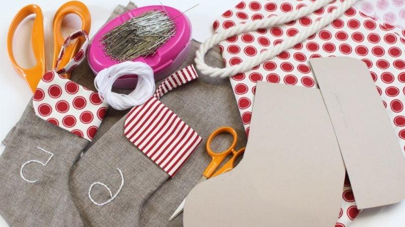 Weihnachtsmotive zum Ausdrucken Socken Anleitung