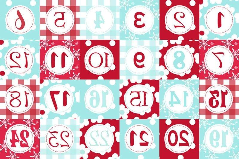 Weihnachtsmotive zum Ausdrucken Adventskalender