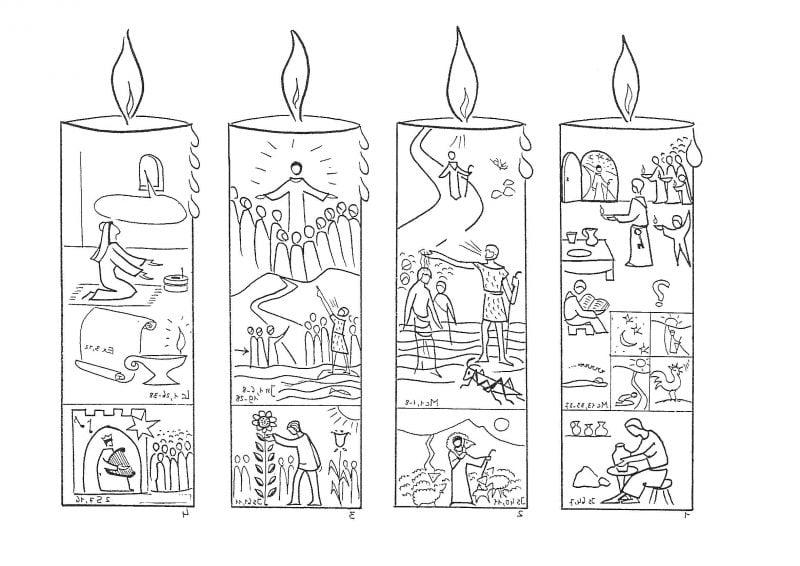 Weihnachtsmotive zum Ausdrucken Kerzen