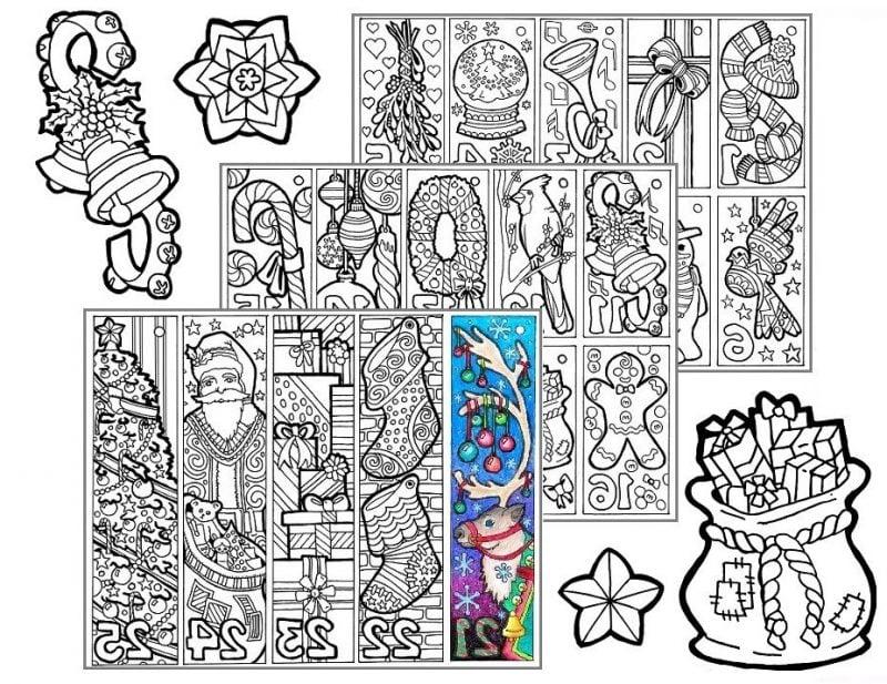 Weihnachtsmotive zum Ausdrucken Mandala