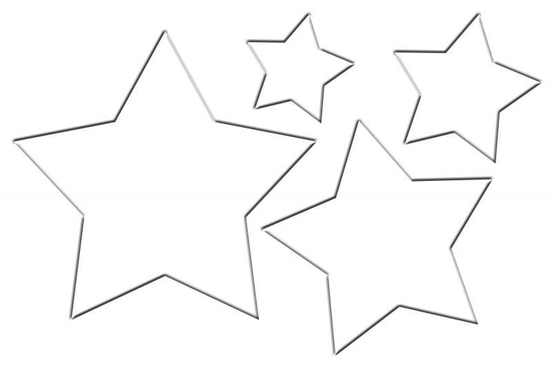 Weihnachtsmotive zum Ausdrucken Stars