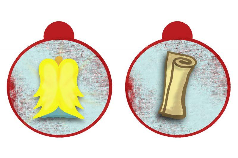 Weihnachtsmotive zum Ausdrucken Vorlage Tag 15 und 16