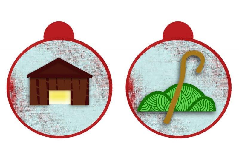 Weihnachtsmotive zum Ausdrucken Vorlage Tag 21 und 22