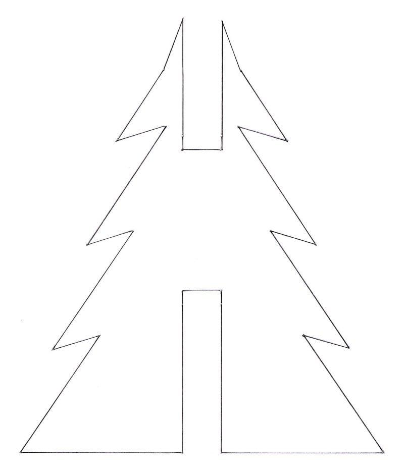 Weihnachtsmotive zum Ausdrucken Vorlage Weihnachtsbaum Falten