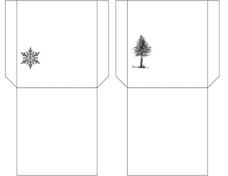 Weihnachtsmotive zum Ausdrucken Vorlage zum Falten