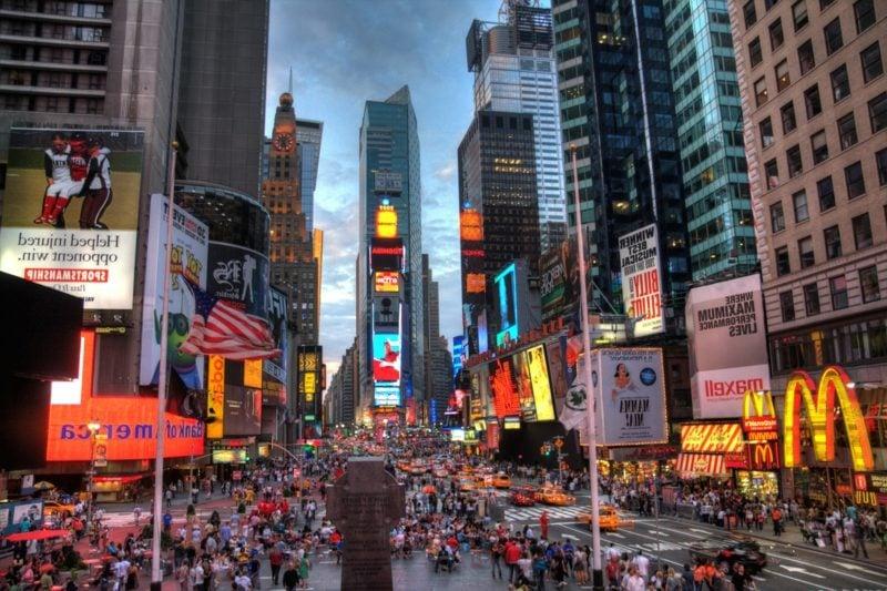 Weihnachten in New York Times Square