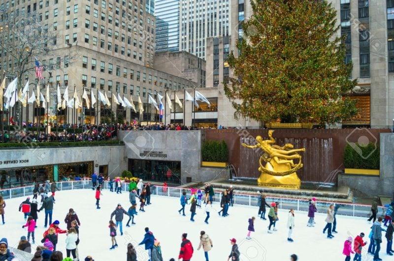 Weihnachten in New York Rockefeller Center