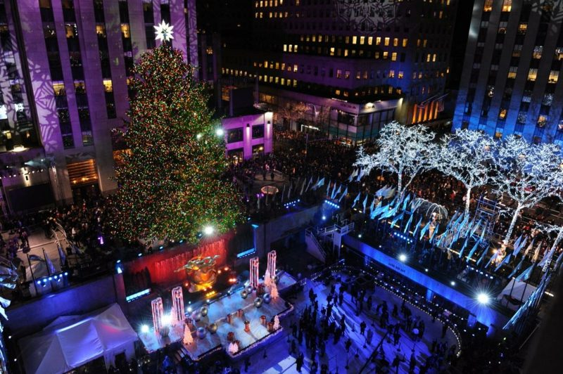 annual rockefeller center christmas tree lighting