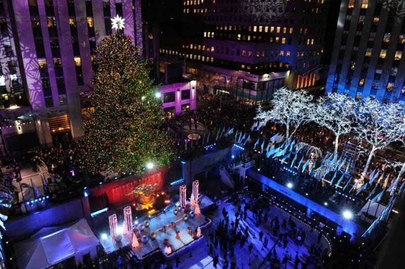 annual rockefeller center christmas tree lighting