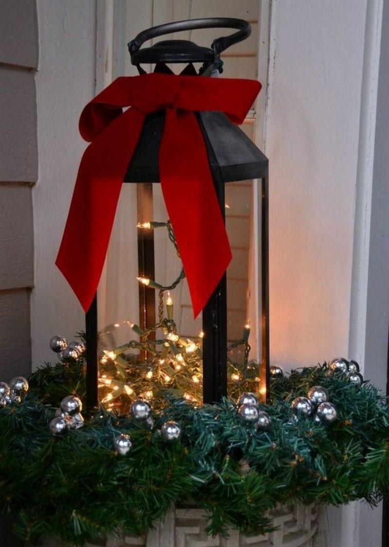 Dekoideen zu Weihnachten Laterne Lichterketten