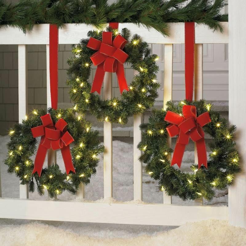 Dekoideen zu Weihnachten Aussenbereich