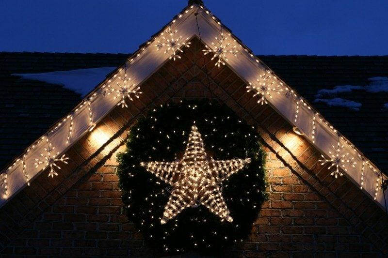 Dekoideen zu Weihnachten Lichterketten Aussenbereich