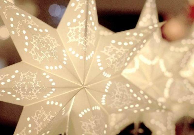 Bastelanleitungen zu Weihnachten Papiersterne selber machen