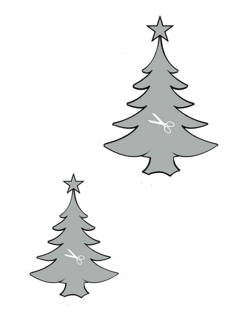Bastelvorlagen zu Weihnachten Schablonen Tannen