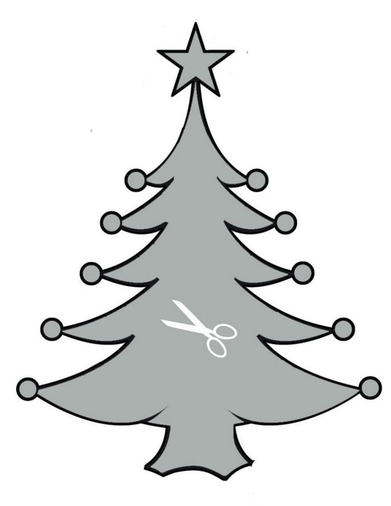 Bastelvorlagen zu Weihnachten Weihnachtsbaum