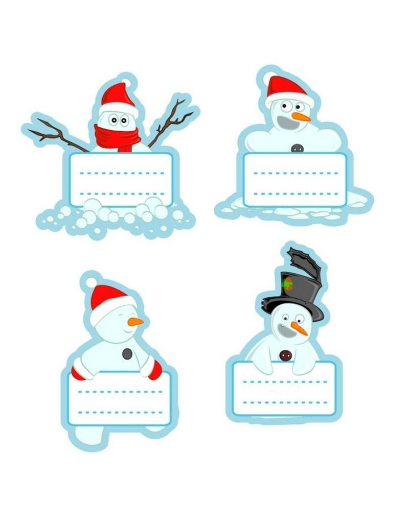 Bastelvorlagen zu Weihnachten originelle Etiketten