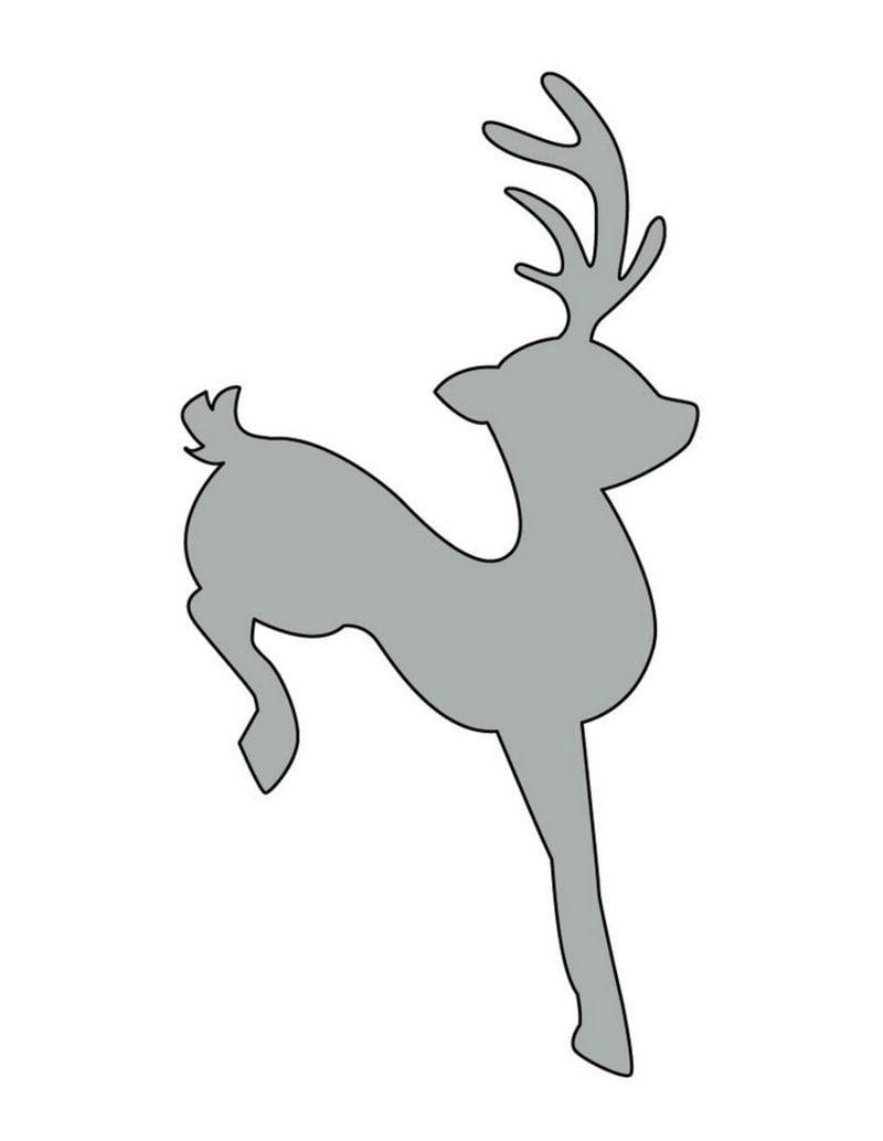 Bastelvorlagen zu Weihnachten Schablonen Rentier