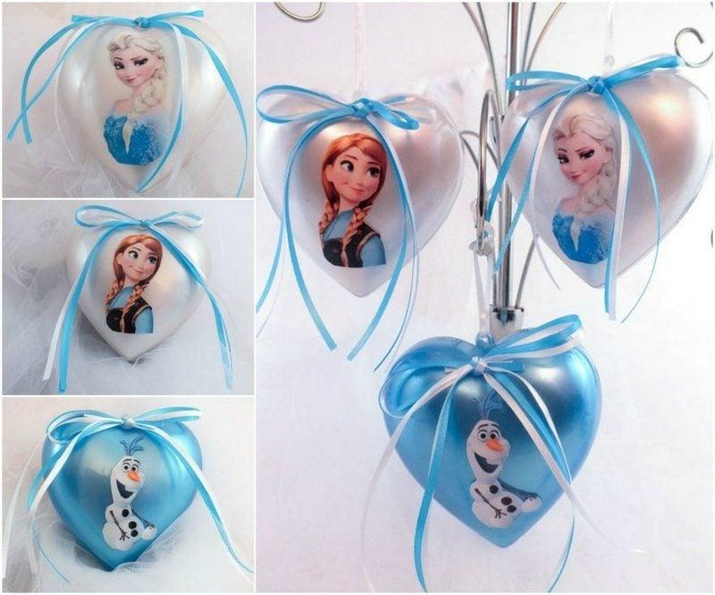 """Basteln zu Weihnachten Baumschmuck, inspieriert vom Disney Film """"Eiskönigin"""""""