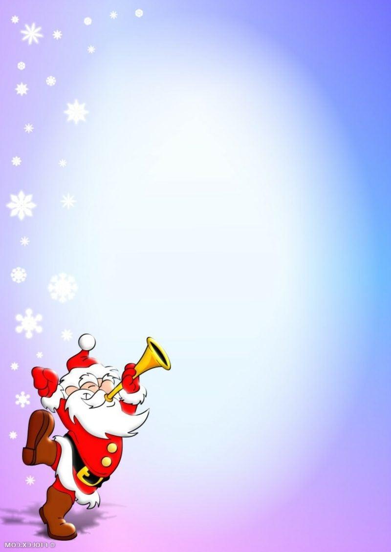 Briefpapier zu Weihnachten Schneeflocken Weihnachtsmann