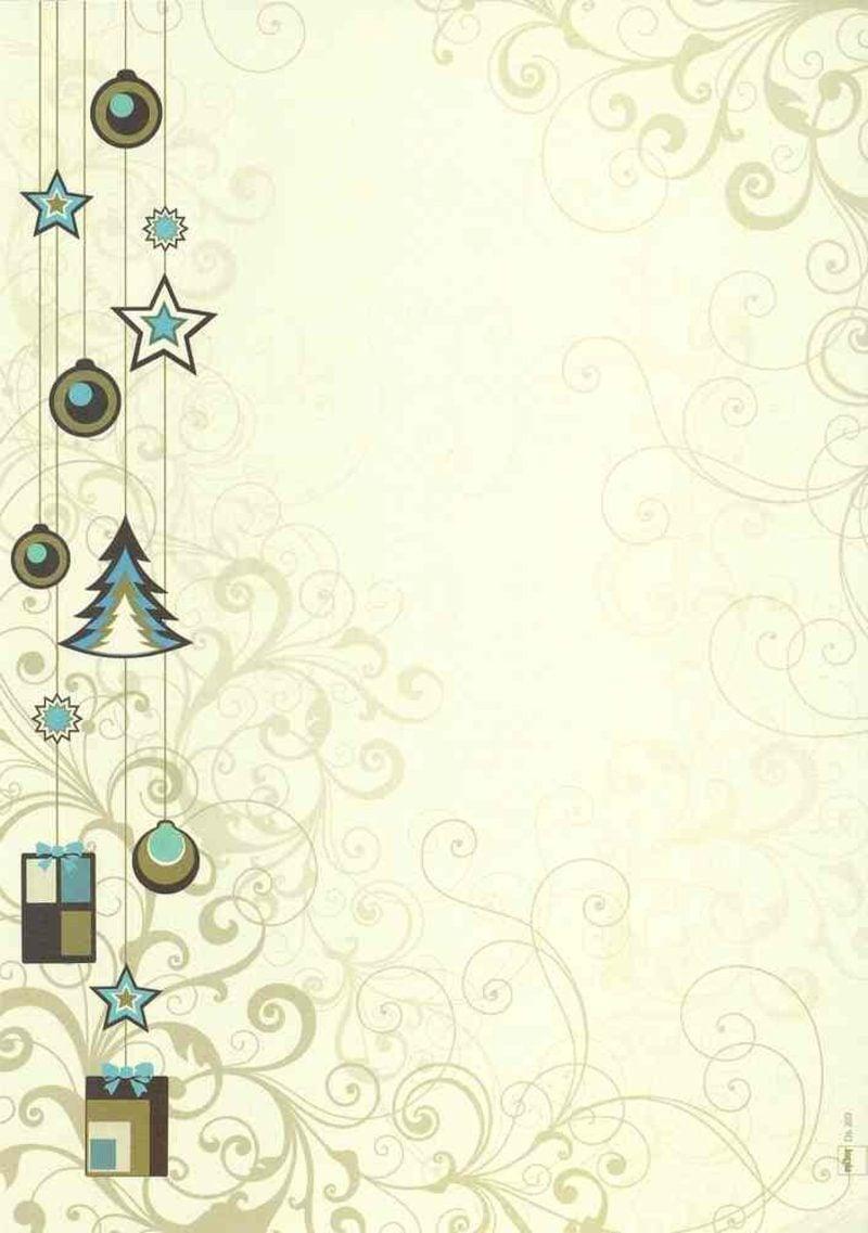 Briefpapier zu Weihnachten stilisierte Weihnachtsmotive