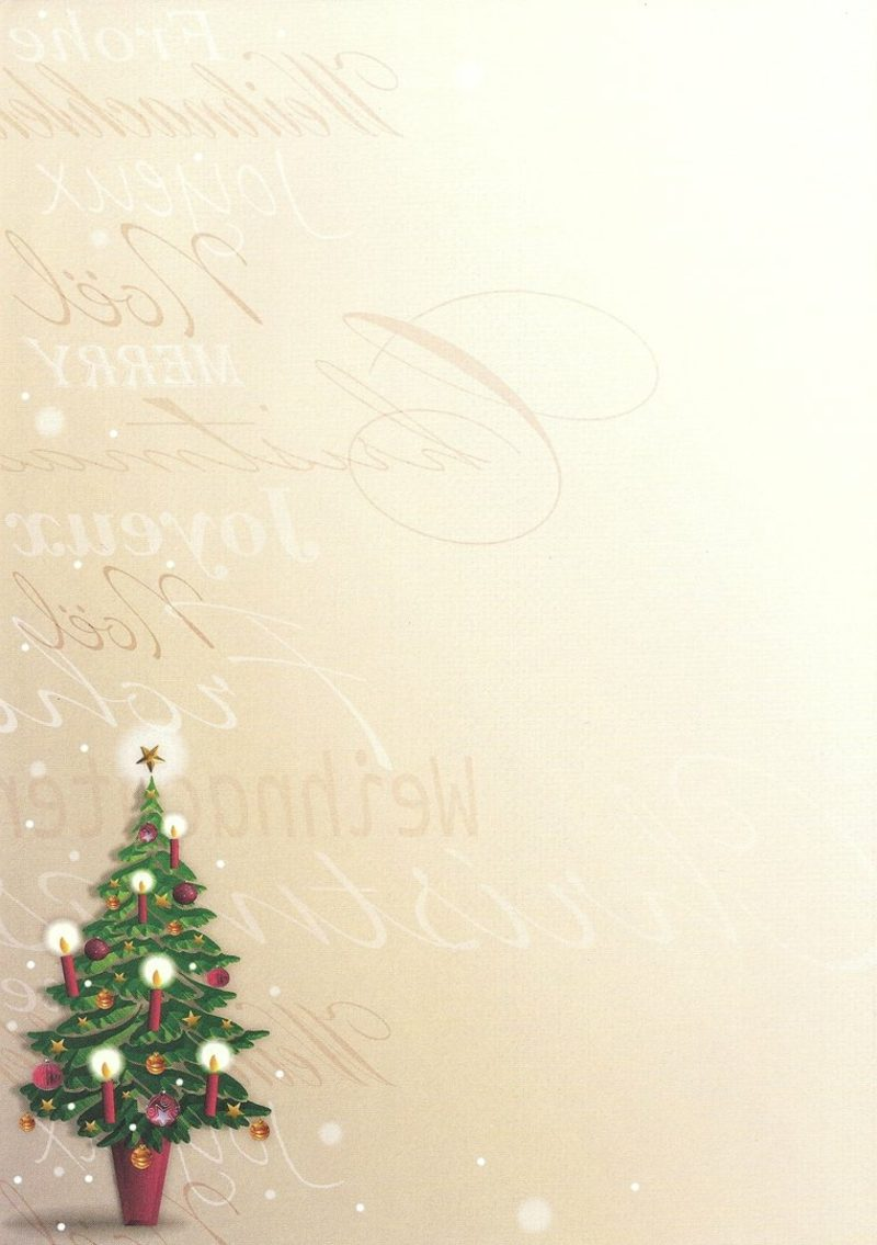 thematisches Briefpapier zu Weihnachten Christbaum