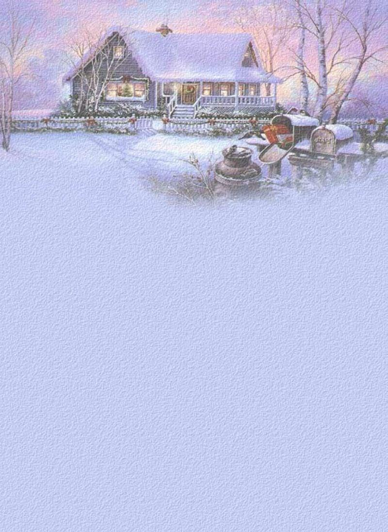 elegantes Briefpapier zu Weihnachten winterliche Landschaft