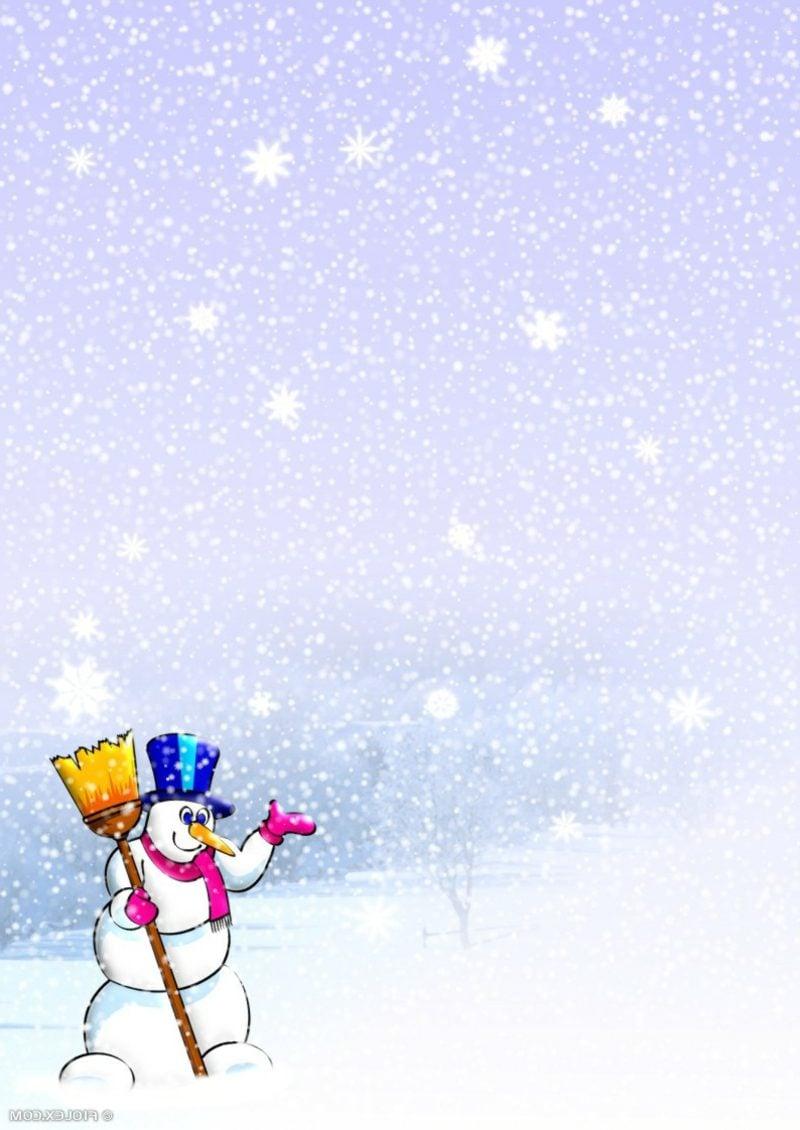 thematisches Briefpapier zu Weihnachten Schneemann