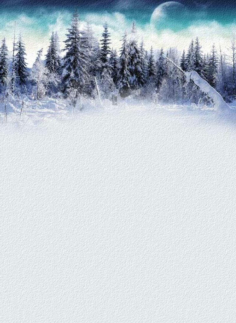 thematisches Briefpapier zu Weihnachten Wald im Winter