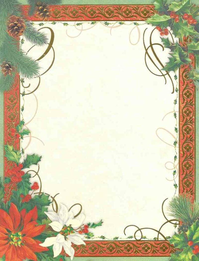 Briefpapier zu Weihnachten mit originellem Rahmen