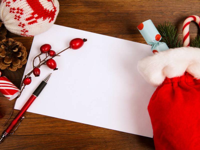 Briefe zu Weihnachten schreiben Briefpapier auswählen