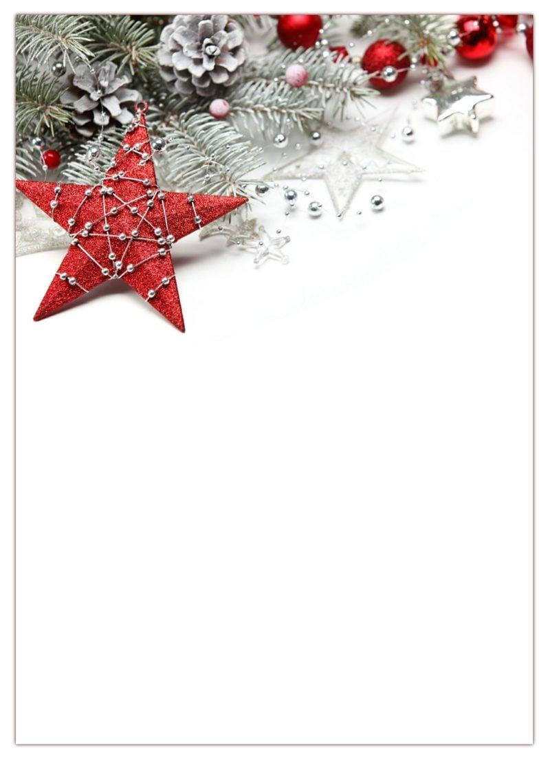 Briefpapier zu Weihnachten klassischer Look herkömmliche Motive