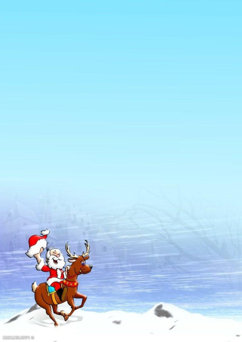 Briefpapier zu Weihnachten mit lustigem Bild