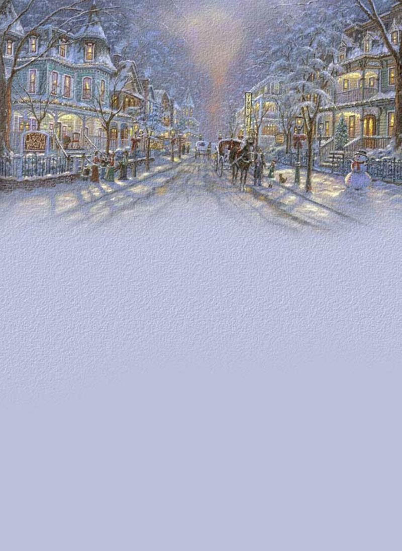 bildhaft schönes Briefpapier zu Weihnachten Strasse im Winter