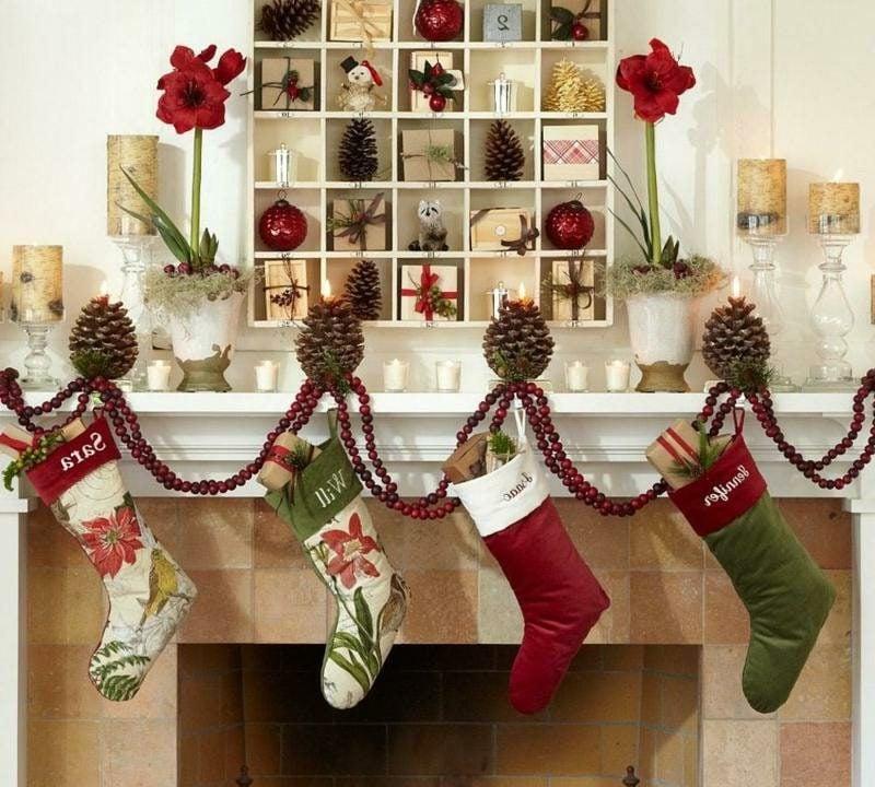Dekoideen zu Weihnachten Kaminsims