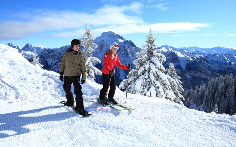 Geschenke für Männer zu Weihnachten Skifahren für zwei
