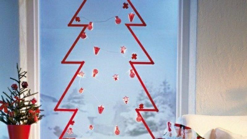 Weihnachtsdeko Fenster Christbaum