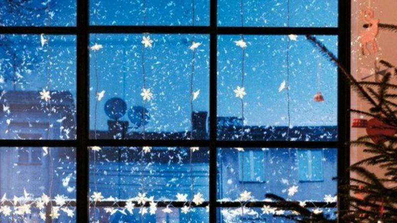 Fensterbilder zu Weihnachten Papiersterne