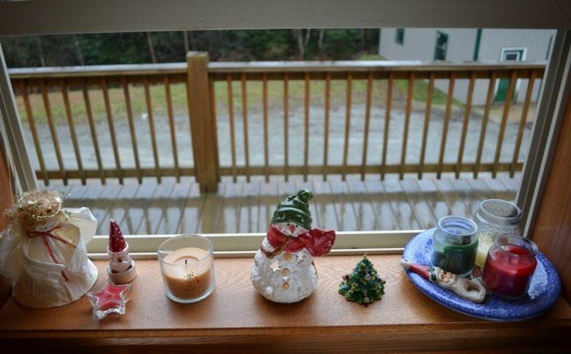 Dekoideen zu Weihnachten Schneemann Fensterbank