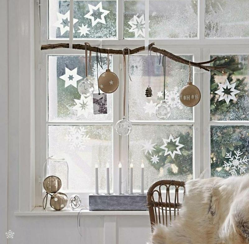 Fensterbilder zu Weihnachten Kunstschnee
