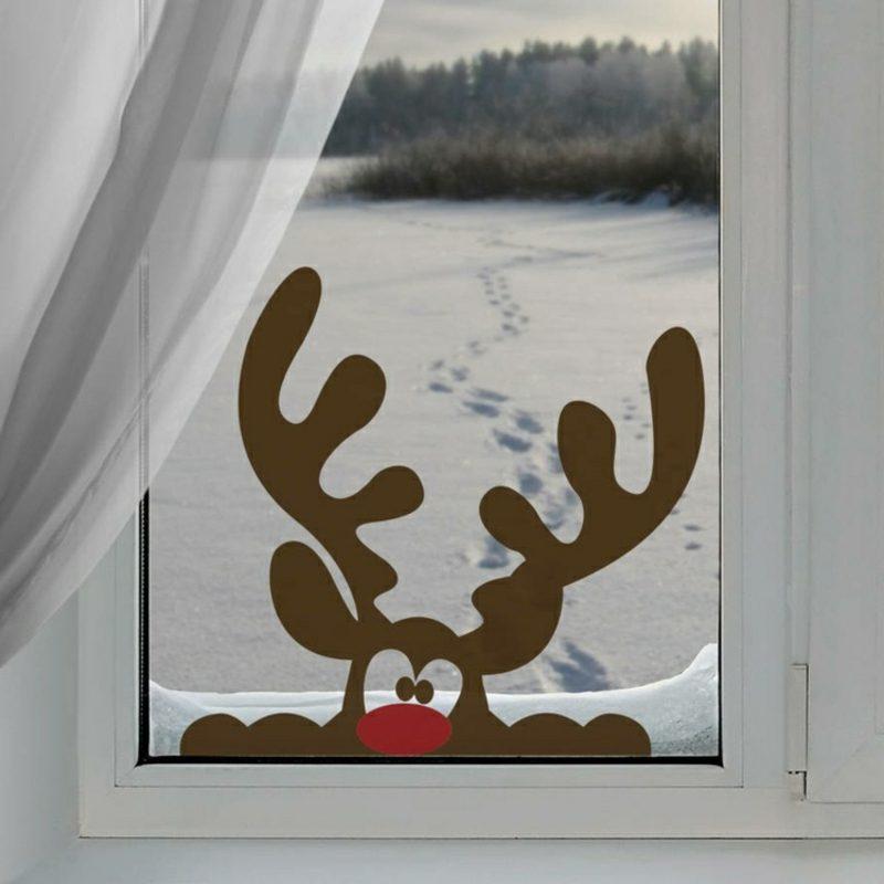 Fensterbilder zu weihnachten originelle bastelideen zum - Fensterbilder grundschule vorlagen ...