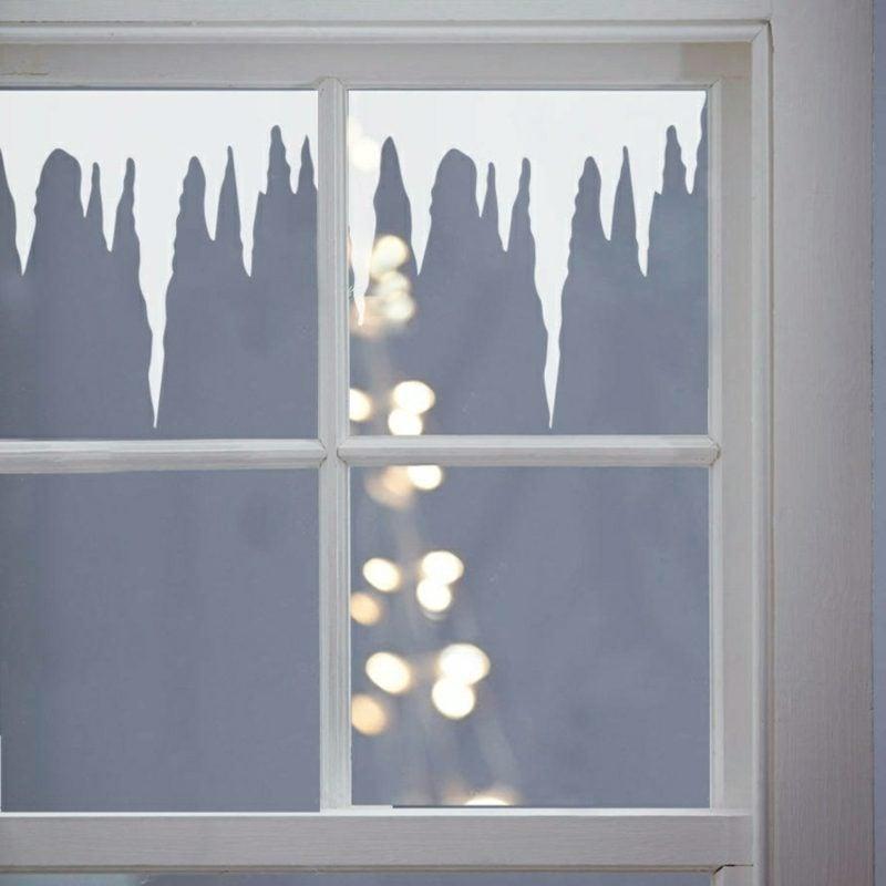 Wensterbilder zu Weihnachten Frost Kunstschnee