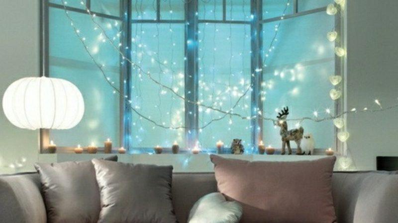 Weihnachtsdeko Fenster Lichterketten