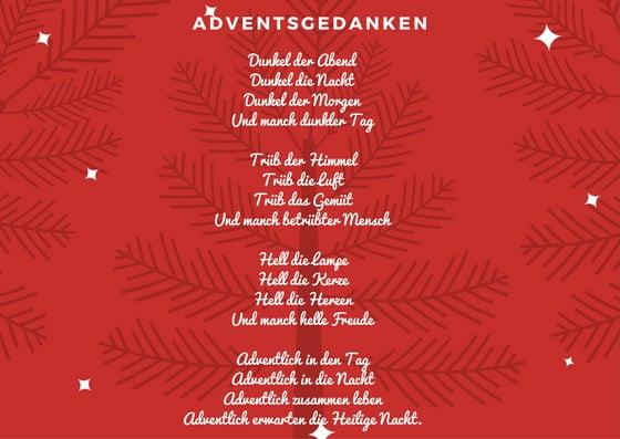 Gedichte für Weihnachten Adventsgedanken
