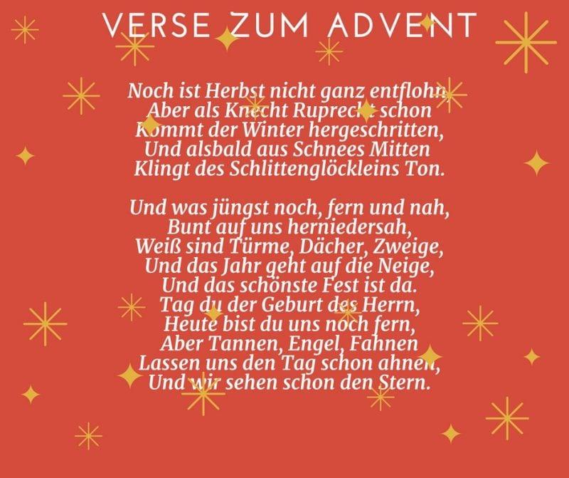 Gedichte für Weihnachten - Verse zum Advent