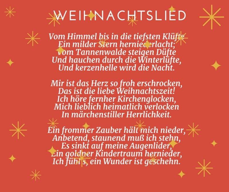 Gedichte für Weihnachten - Weihnachtslied
